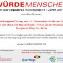 Einladung zur Ausstellung Würdemenschen - Kunst-Projekt Oberstufe September 2019