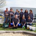 Das Team vom Orizon beim Freiwilligeneinsatz.